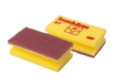 Picture of 3M No 57 SOFT SBK SCOURERS YELLOW [PACK OF 6]